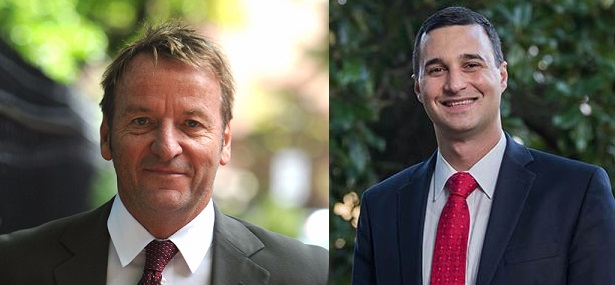 Democrat Gavin Buckley (L) and Republican Mike Pantelides (R)